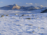 Wind-Blown Snow &amp; Longs Peak Above Clouds  Rocky Mountains  Colorado  USA