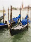 Selective Focus of Gondola in the Canals of Venice  Italy