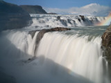The Hvita River Roars Over Gullfoss Waterfall  Iceland