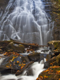 Crabtree Falls in the Blue Ridge Parkway of North Carolina  USA
