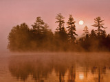 Sunrise on a Lake  Adirondack Park  New York  USA