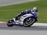 Motorcycle in Motion  Ama Superbike Race  Mid Ohio Raceway  Ohio  USA
