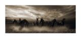Wild Stampede Reproduction d'art par Malcolm Sanders