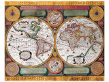 Antique Map  Terre Universelle  1594