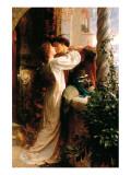 Romeo et Juliette Giclée premium par Frank Bernard Dicksee