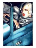 Autoportrait Giclée premium par Tamara De Lempicka