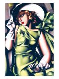 Jeune fille en vert Giclée premium par Tamara De Lempicka