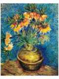 Crown Imperial Fritillaries in a Copper Vase  c1886