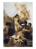 Naissance de Vénus Giclée premium par William Adolphe Bouguereau