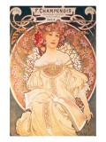 F. Champenois, France, 1898 Giclée premium par Alphonse Mucha