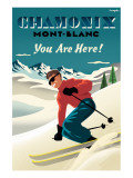 Mont Blanc  Chamonix  You Are Here!
