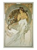 The Arts: La Musique Giclée premium par Alphonse Mucha
