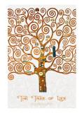 The Tree of Life Pastiche Marzipan Giclée premium par Gustav Klimt