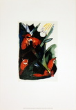 Four Foxes Postcard of Wassily Kandinsky