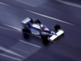 Blurred F1 Auto Racing Action