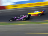 Blurred Auto Racing Action