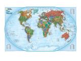 Carte du monde Reproduction d'art par National Geographic Maps