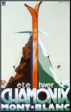 Eté-hiver Chamonix Mont-Blanc Reproduction montée par Henry Reb