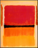 Sans titre Violet, noir, orange, jaune sur blanc et rouge, 1949 Reproduction montée par Mark Rothko