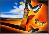 Paysage aux papillons Reproduction montée par Salvador Dalí