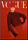 Vogue Cover  Red Rose  August 1956