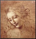 La Scapigliata ou L'Ébouriffée, vers 1508 Reproduction montée par Leonardo Da Vinci