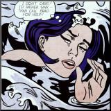 Jeune fille se noyant Reproduction montée par Roy Lichtenstein