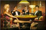 Quatre d'une sorte, jouant au poker Reproduction montée par Chris Consani