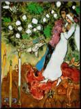Les trois bougies Reproduction montée par Marc Chagall