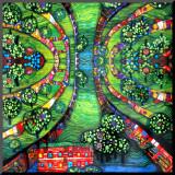 Ville verte, vers1978 Reproduction montée par Friedensreich Hundertwasser