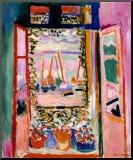 Fenêtre ouverte, Collioure, 1905 Reproduction montée par Henri Matisse
