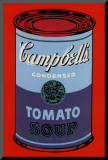 Campbell&#39;s Soup Can  1965 (Blue and Purple)