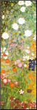 Jardin fleuri, détail Reproduction montée par Gustav Klimt