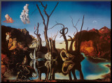 Swans Reflecting Elephants  c1937