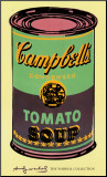 Campbell&#39;s Soup Can  1965 (Green and Purple)