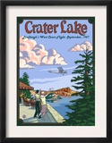 Lindbergh's West Coast Flight  Crater Lake  Oregon  c1927