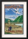 Bonneville Dam  Columbia River  Oregon