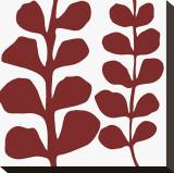 Maidenhair (red on white)