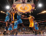 New Orleans Hornets v Los Angeles Lakers - Game Five  Los Angeles  CA - April 26: Kobe Bryant