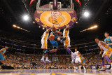 New Orleans Hornets v Los Angeles Lakers - Game One  Los Angeles  CA - April 17: Jarrett Jack  Andr