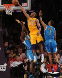 New Orleans Hornets v Los Angeles Lakers - Game Two  Los Angeles  CA - April 20: Kobe Bryant  Emeka