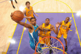 New Orleans Hornets v Los Angeles Lakers - Game Five  Los Angeles  CA - April 26: Trevor Ariza and