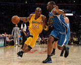 New Orleans Hornets v Los Angeles Lakers - Game Five  Los Angeles  CA - April 26: Kobe Bryant and C