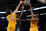 New Orleans Hornets v Los Angeles Lakers - Game Five  Los Angeles  CA - April 26: Carl Landry  Pau