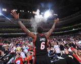 Miami Heat v Philadelphia 76ers - Game Four  Philadelphia  PA - April 24: LeBron James