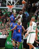 New York Knicks v Boston Celtics - Game One  Boston  MA - April 17: Kevin Garnett and Amar'e Stoude