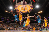 New Orleans Hornets v Los Angeles Lakers - Game Five  Los Angeles  CA - April 26: Chris Paul and An
