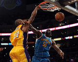 New Orleans Hornets v Los Angeles Lakers - Game Five  Los Angeles  CA - April 26: Kobe Bryant and E