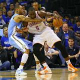 Denver Nuggets v Oklahoma City Thunder - Game Two  Oklahoma City  OK - April 20: Kendrick Perkins a