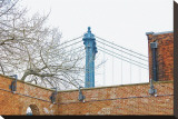 Manhattan Bridge and Brick Wall